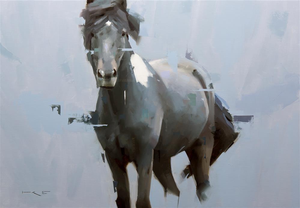 """""""Icelandic Horse 15"""" original fine art by Thorgrimur Andri Einarsson"""