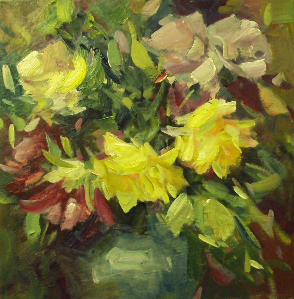 """""""Happy new flowers"""" original fine art by Parastoo Ganjei"""