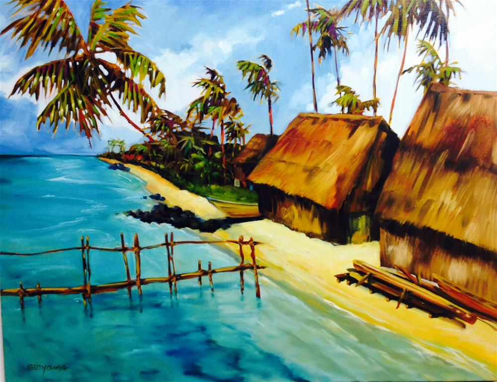 """Kuna Village"" original fine art by George Young"