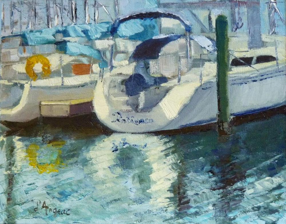 """The Harbor"" original fine art by Karen D'angeac Mihm"