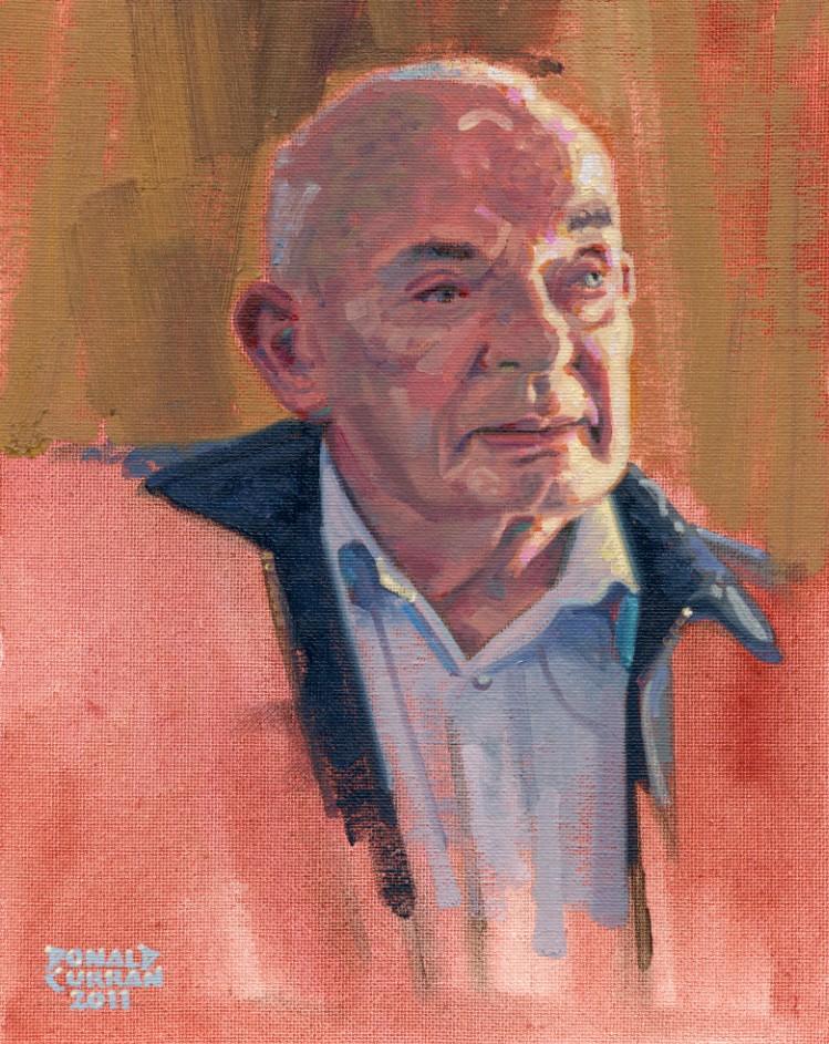 """The Old Irish Guy"" original fine art by Donald Curran"