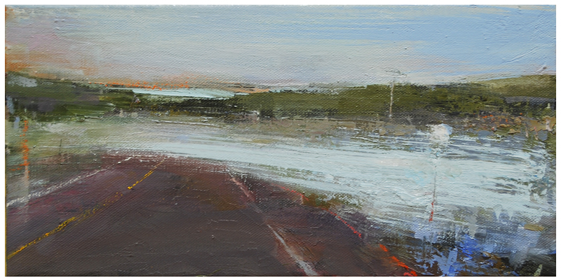 """Flooded Vermont road, 8/29/11"" original fine art by Steven Goodman"