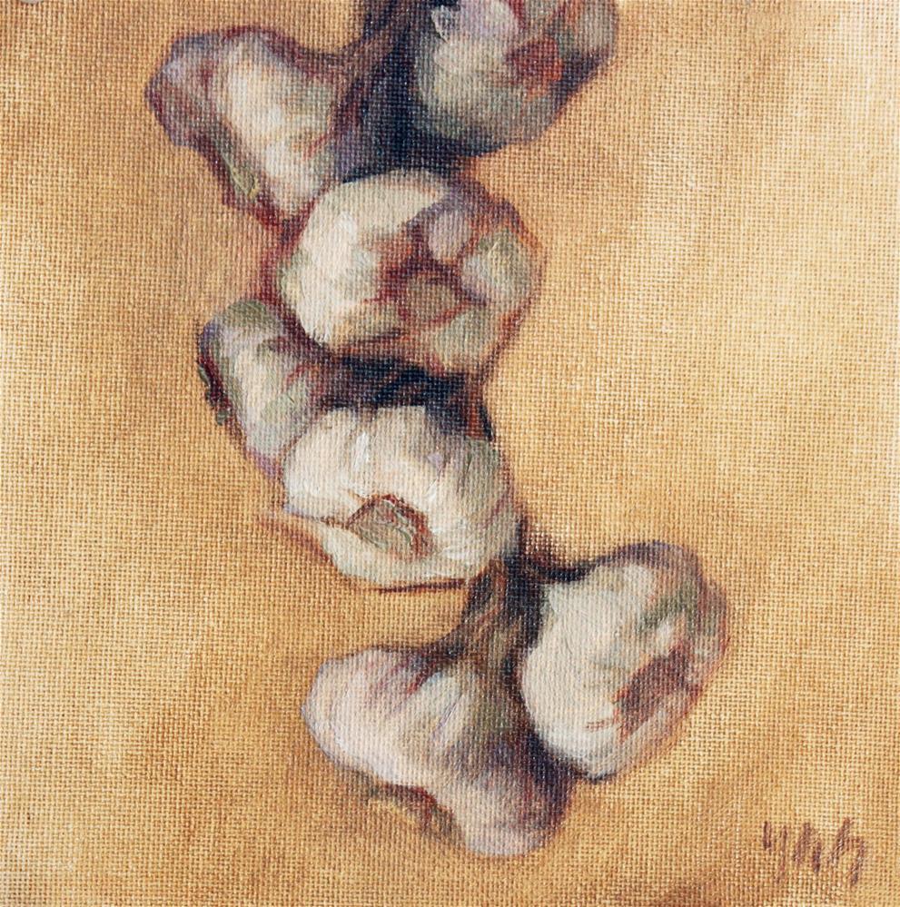"""""""Garlic"""" original fine art by Yuehua He"""