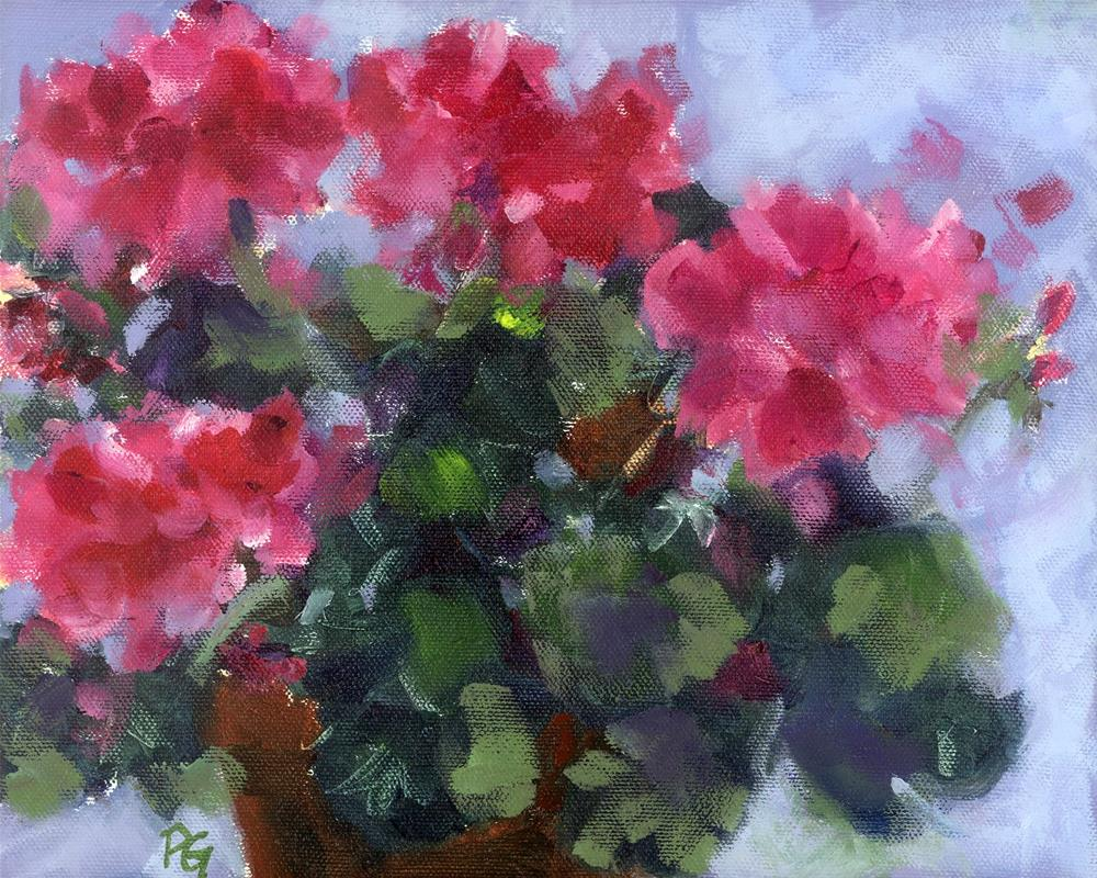 """Geranium Rouge"" original fine art by Pamela Gatens"