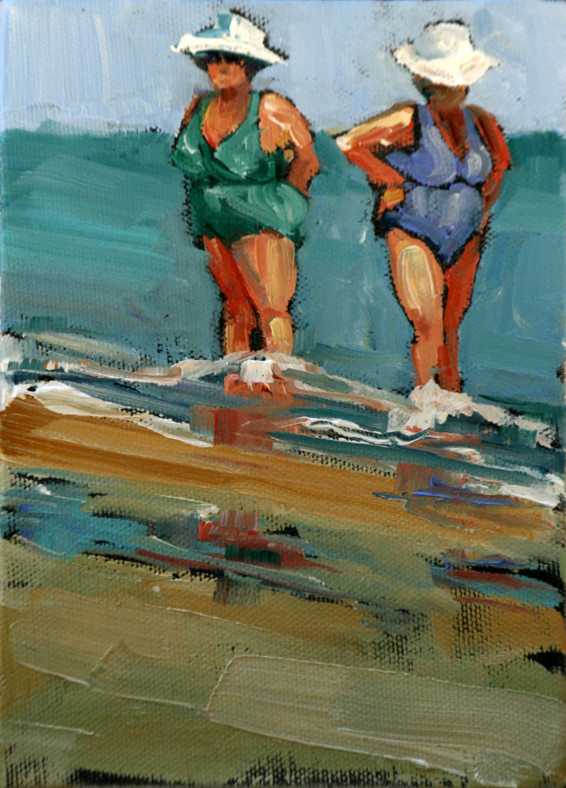 """bronzed beauties"" original fine art by Carol Carmichael"