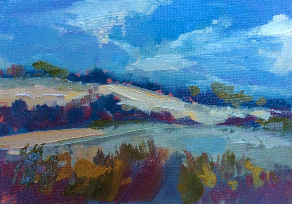 """""""Bolingbroke Fields"""" original fine art by Anne Wood"""