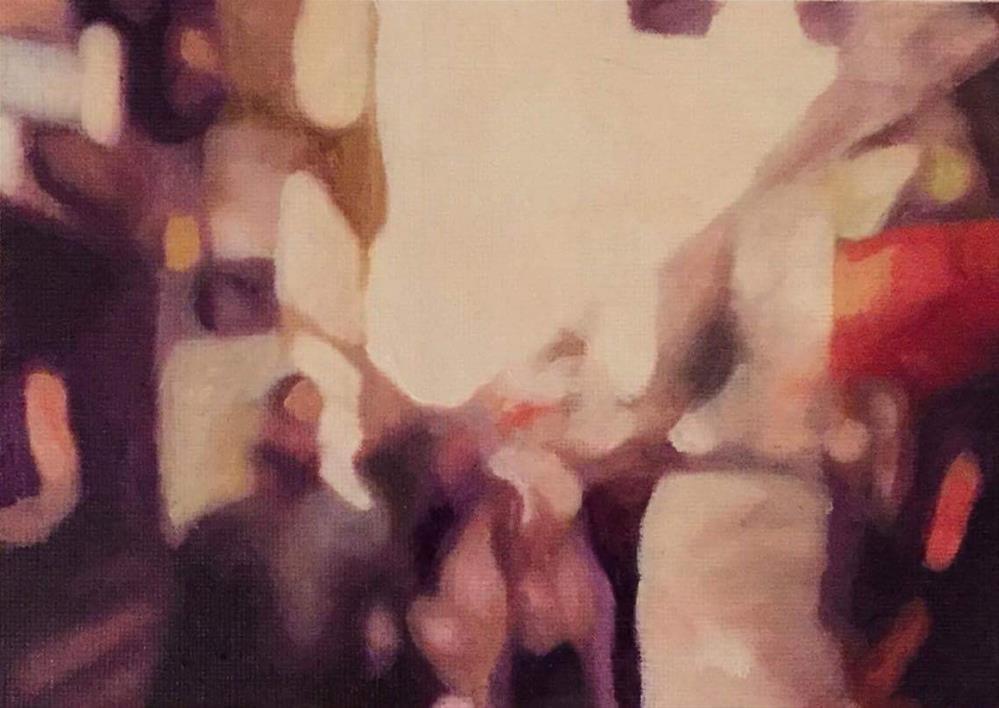 """City Walk"" original fine art by John Cameron"