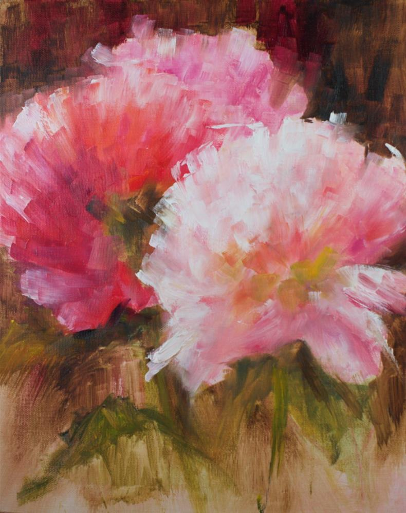 """Peony Study"" original fine art by Sue Churchgrant"