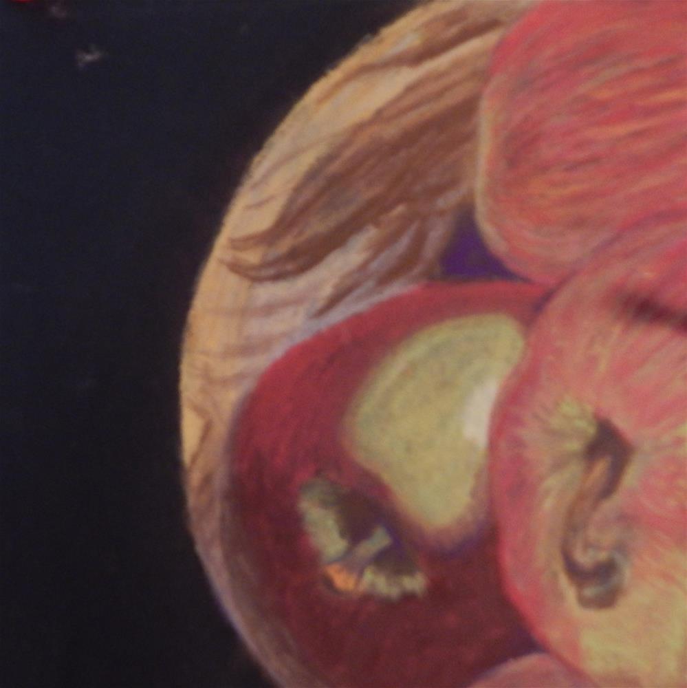 """Apples in Wooden Bowl"" original fine art by Elaine Shortall"