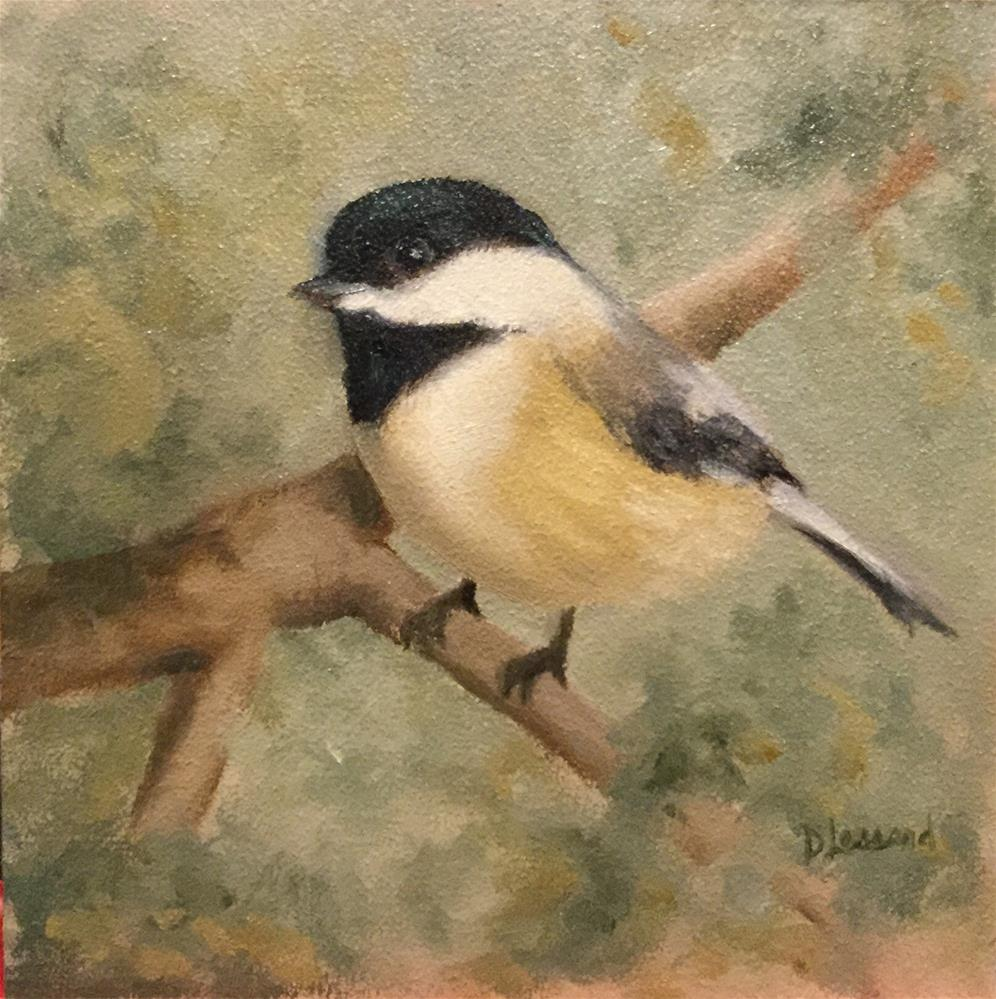"""Backyard Visitor #1619"" original fine art by Dee Lessard"