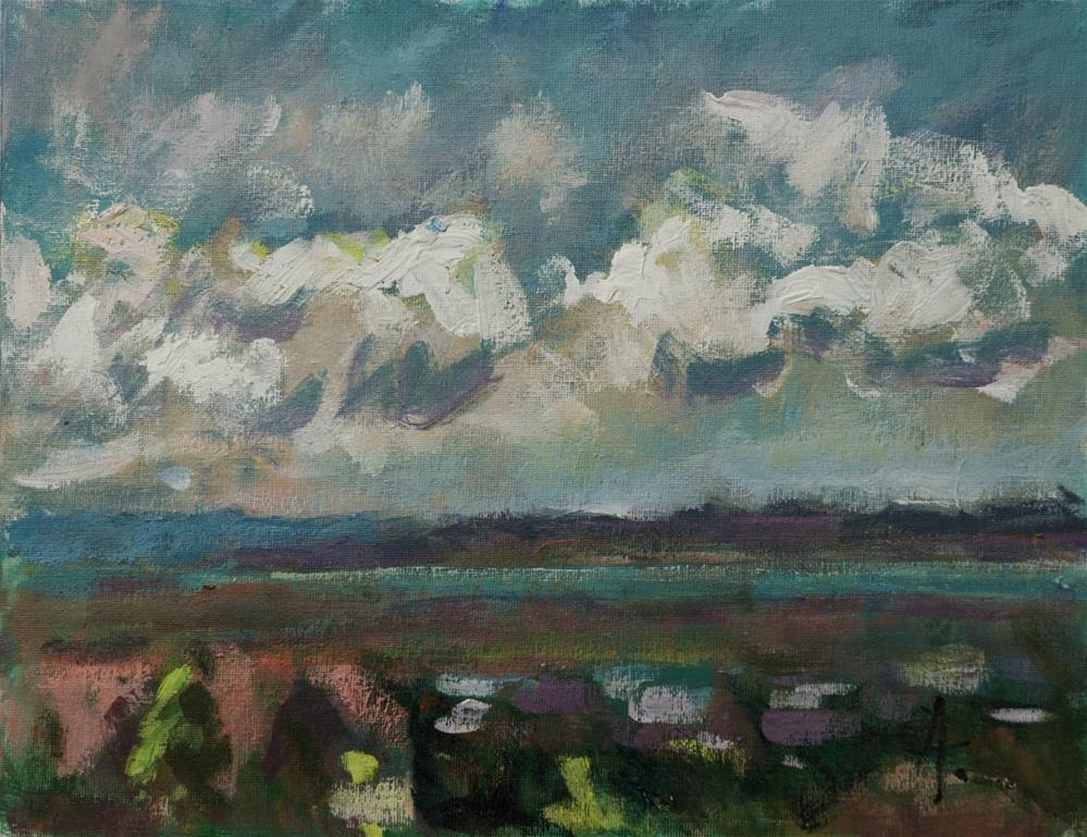 """Clouds over the Salt Lake Valley"" original fine art by Andre Pallat"