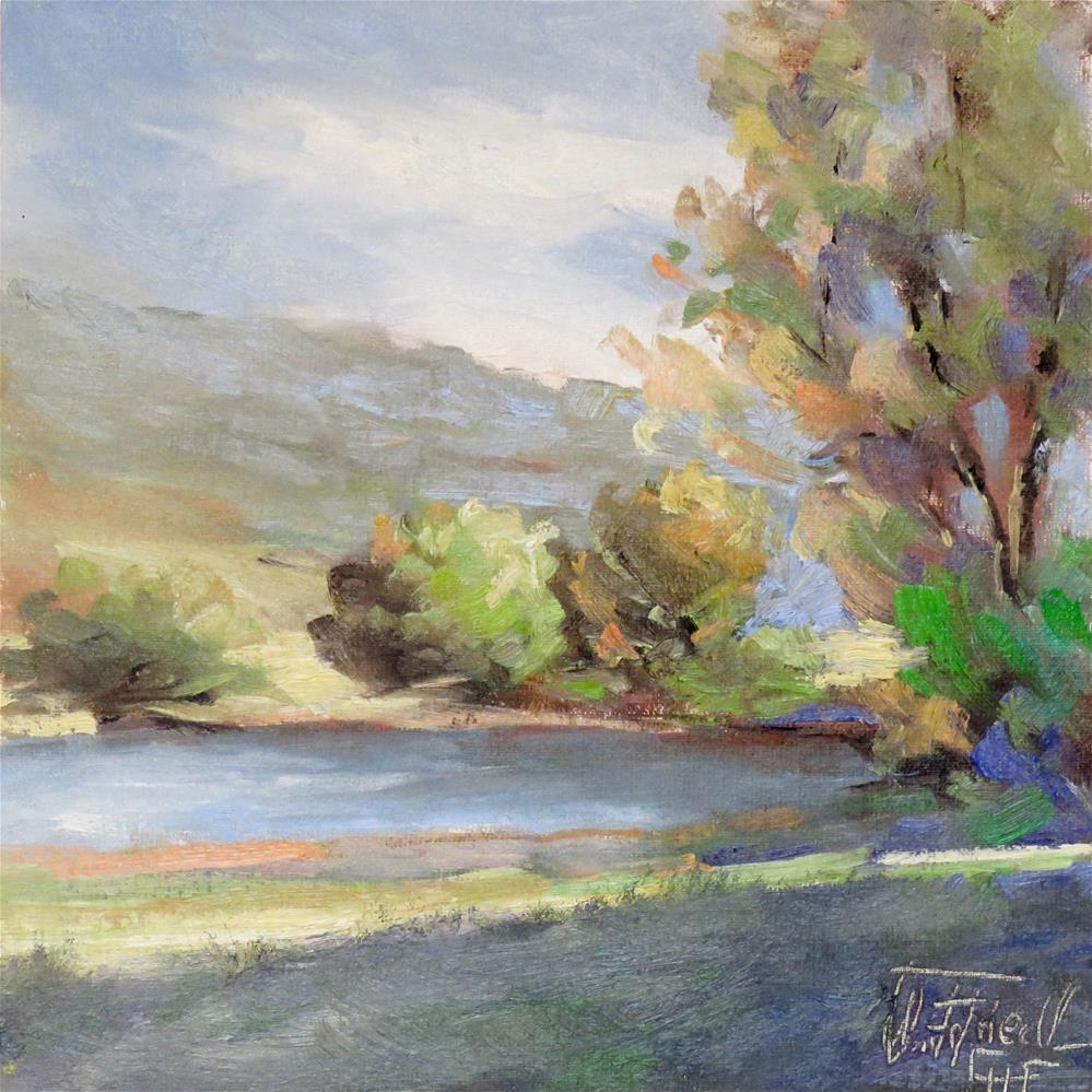 """""""Spring in the country"""" original fine art by Christa Friedl"""