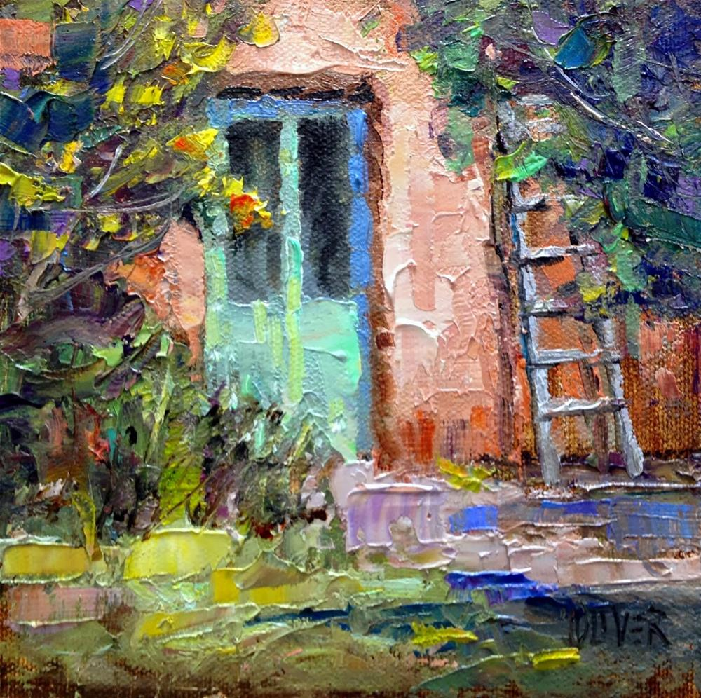 """Georgia's Door"" original fine art by Julie Ford Oliver"