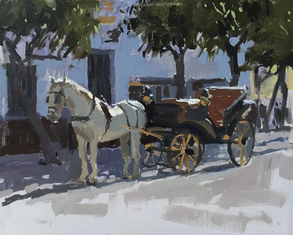"""Horse and carriage"" original fine art by Haidee-Jo Summers ROI"