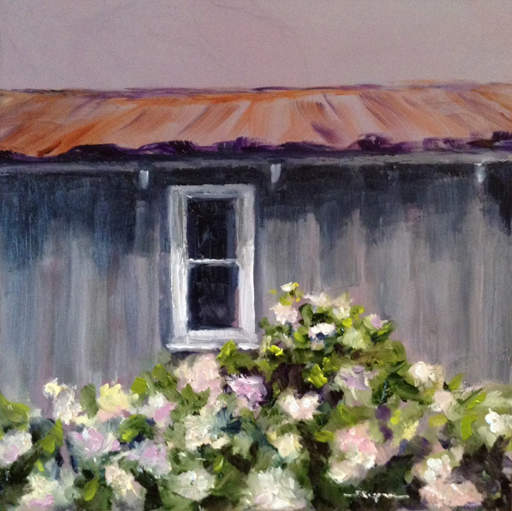 """Old Gardening Shed"" original fine art by Shelley Koopmann"