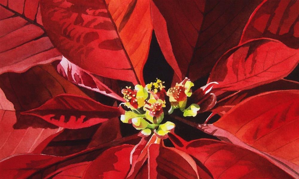 """Merry Christmas"" original fine art by Jacqueline Gnott, TWSA, WHS"