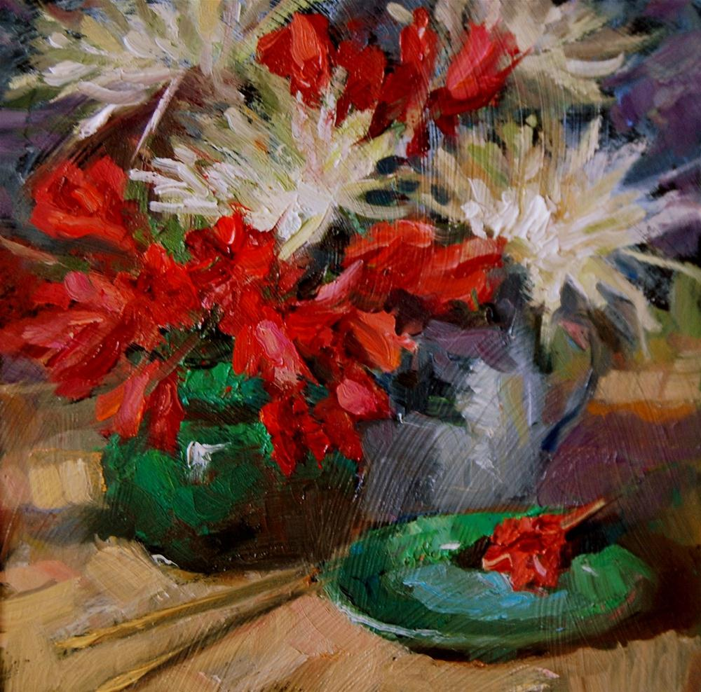 """Flower Study"" original fine art by Julie Ford Oliver"