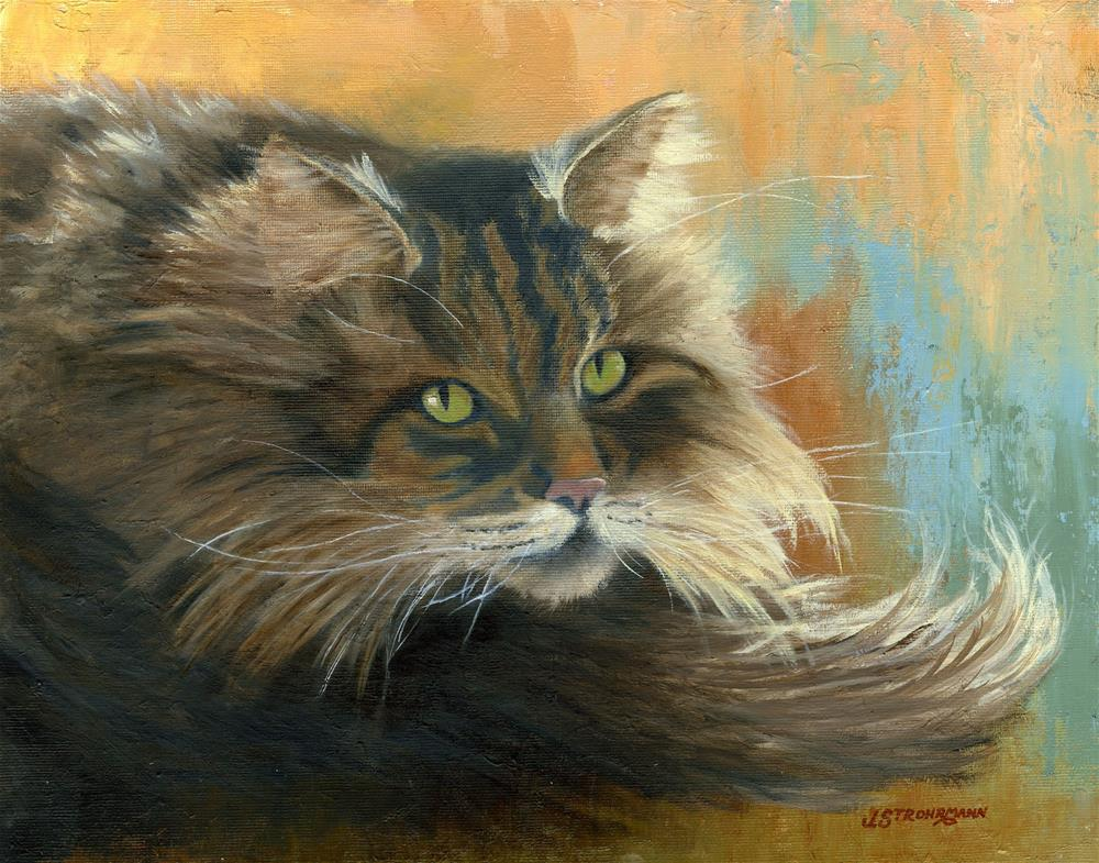 """Soft Kitty, Warm Kitty"" original fine art by Jeanne Strohrmann"