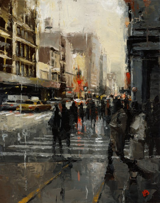 """Broadway & Spring"" original fine art by Victor Bauer"