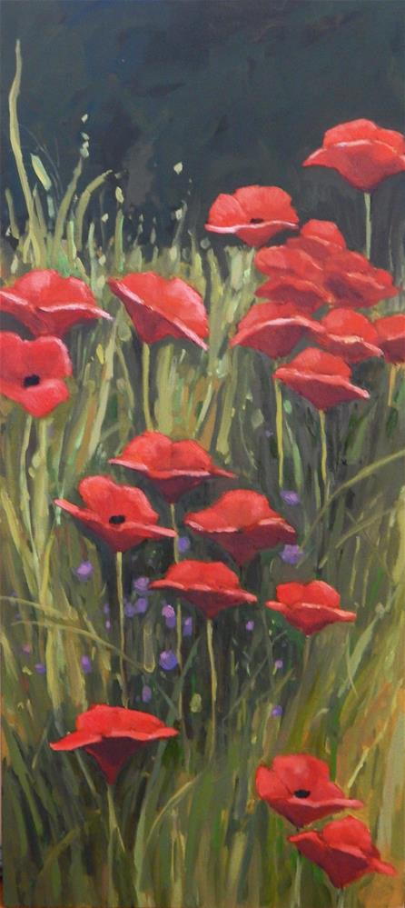 """""""A Slice of Poppies"""" original fine art by Lisa Kyle"""