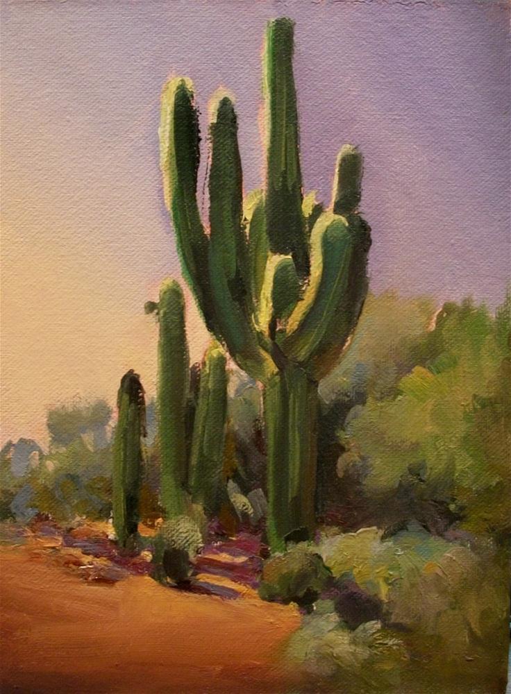 """""""CACTUS HIGH"""" original fine art by Doug Carter"""