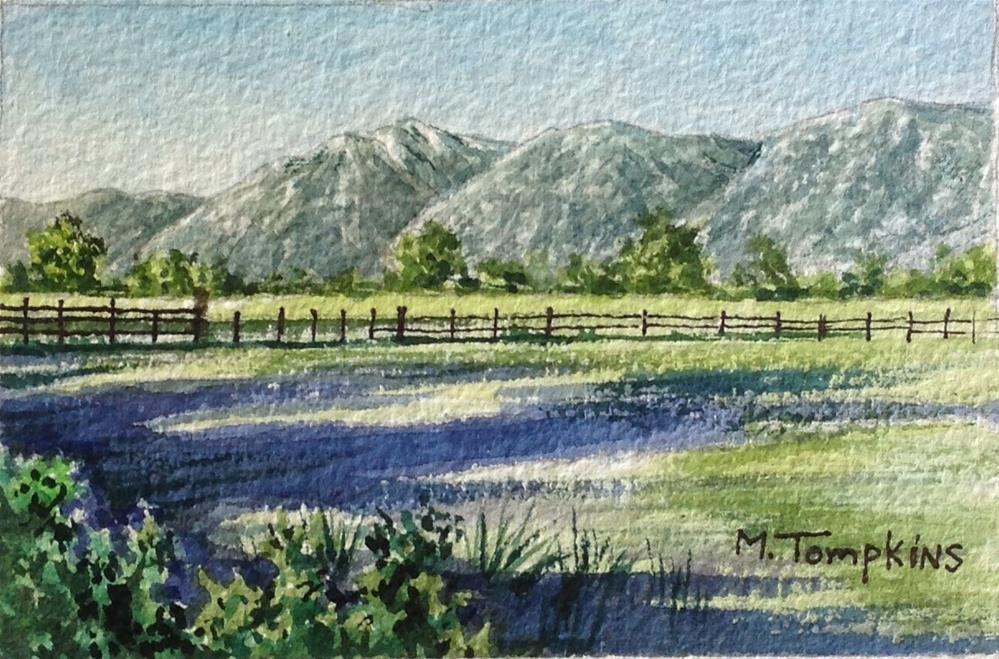 """Carson Valley Summer"" original fine art by Mark Tompkins"