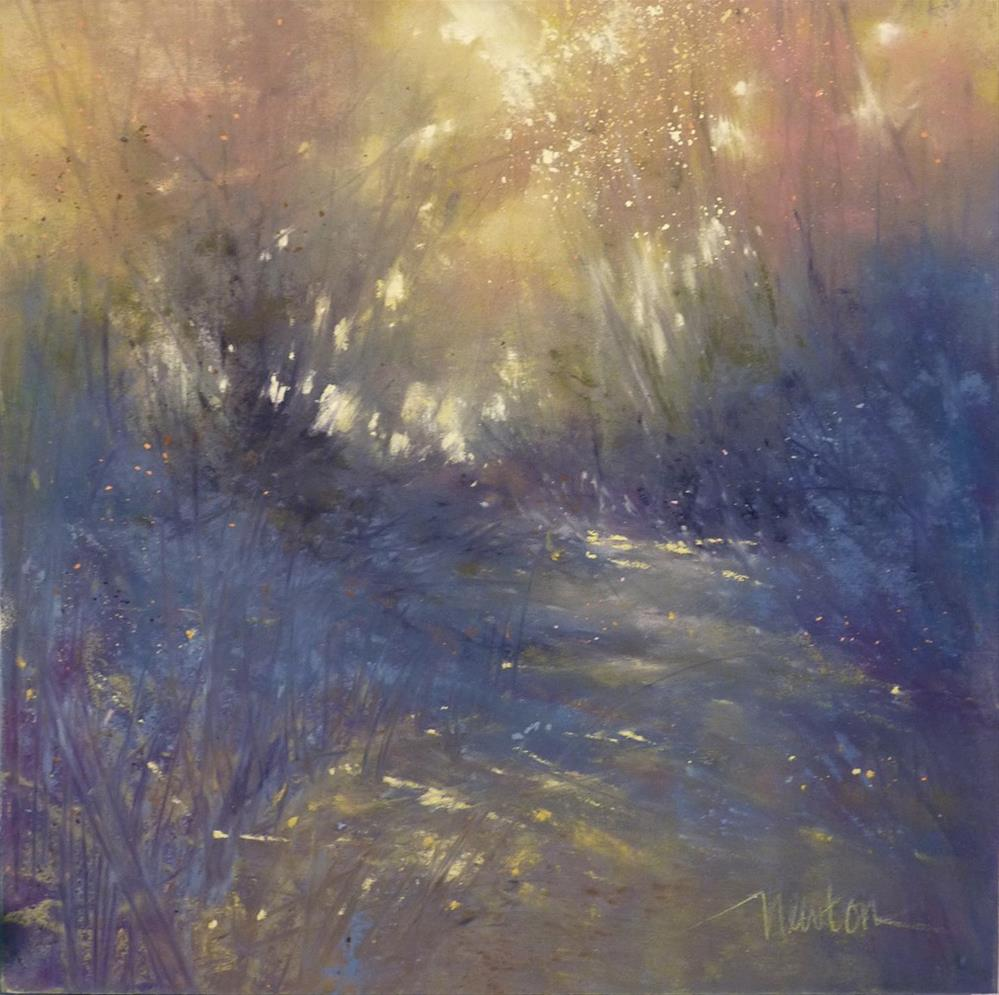 """Dappled Passage"" original fine art by Barbara Benedetti Newton"