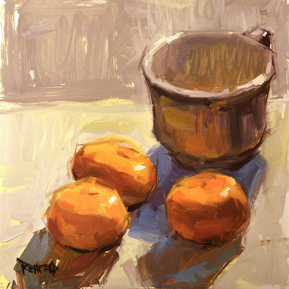 """Oranges and Neutrals"" original fine art by Cathleen Rehfeld"
