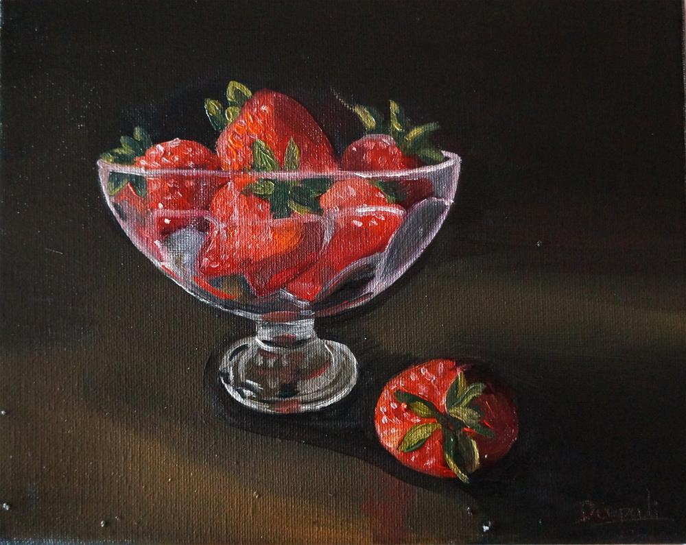 """Strawberries"" original fine art by Dipali Rabadiya"