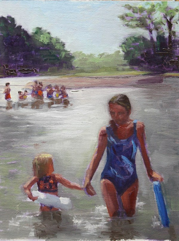 """Sydney at the Springs"" original fine art by Jane Frederick"