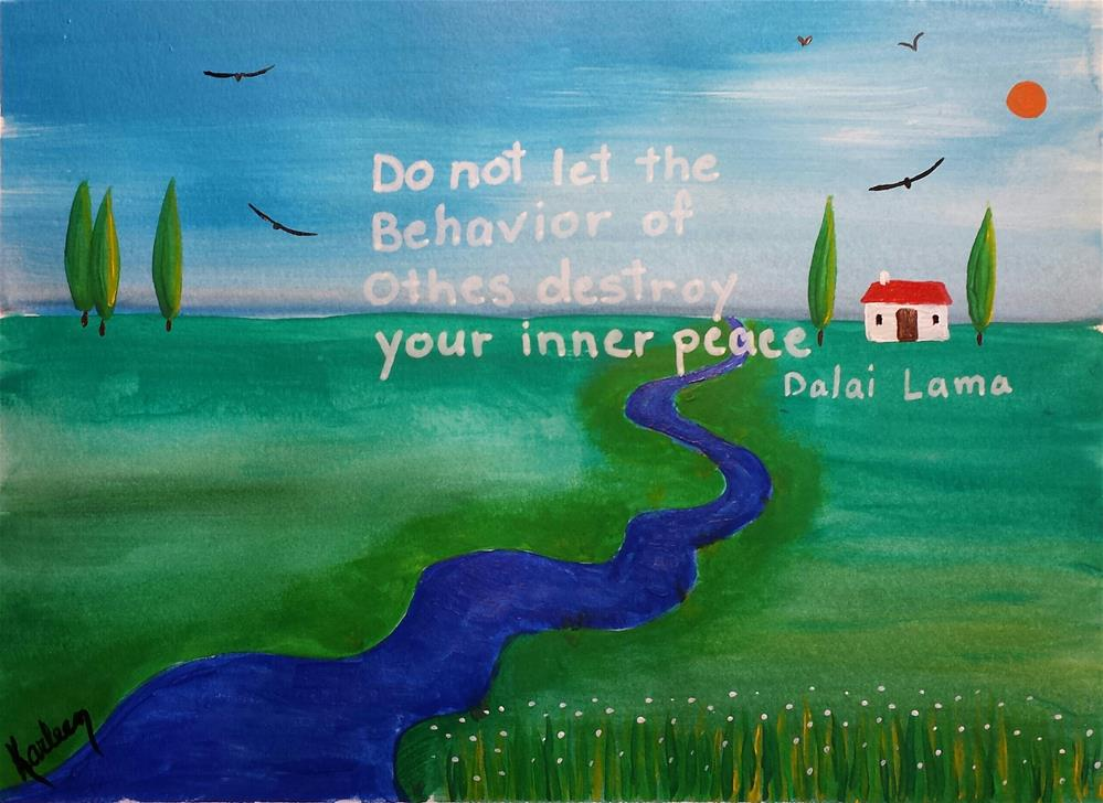 """""""Inner Peace"""" original fine art by Karleen Kareem"""