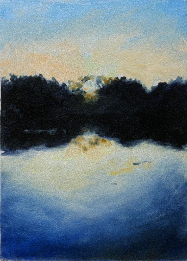 """Lake Sunset II"" original fine art by Clair Hartmann"