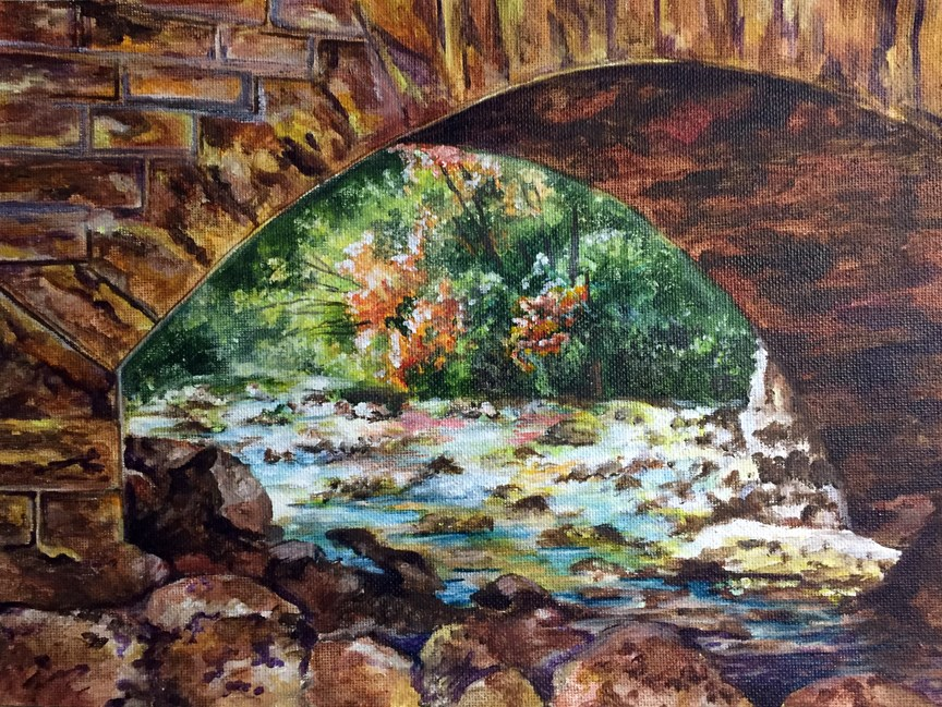 """Under the Bridge"" original fine art by Nan Johnson"