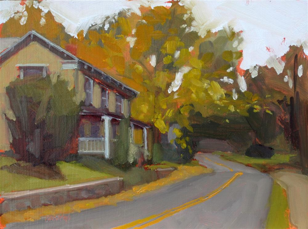 """autumn in the village"" original fine art by Dan Graziano"