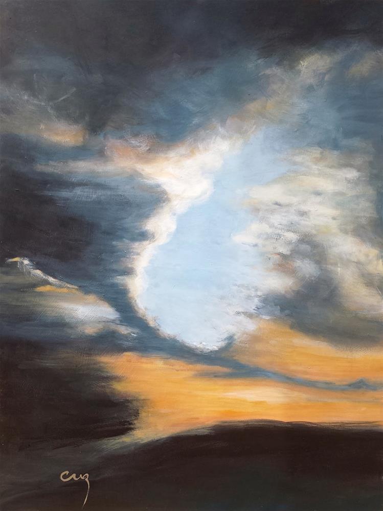 """""""Almost Dark"""" original fine art by Catherine Zakutney"""