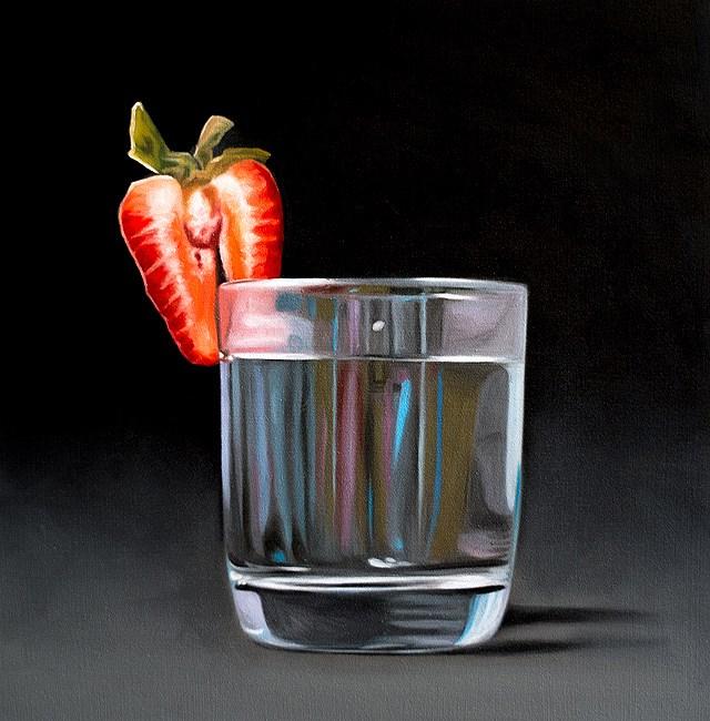 """Strawberry and Tonic"" original fine art by Lauren Pretorius"