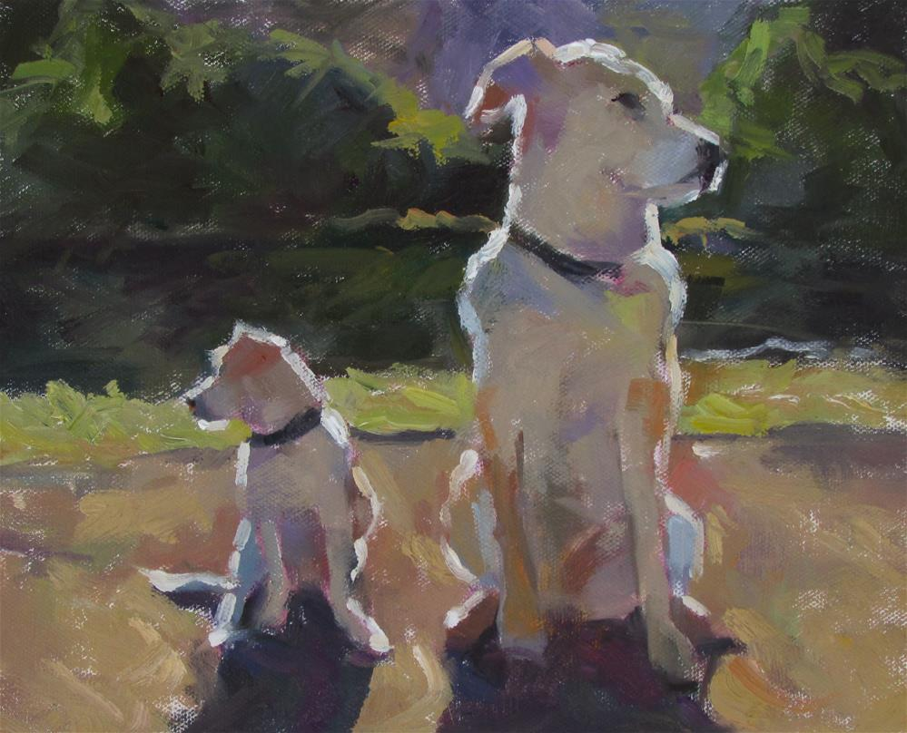 """The Kids"" original fine art by Dana Cooper"