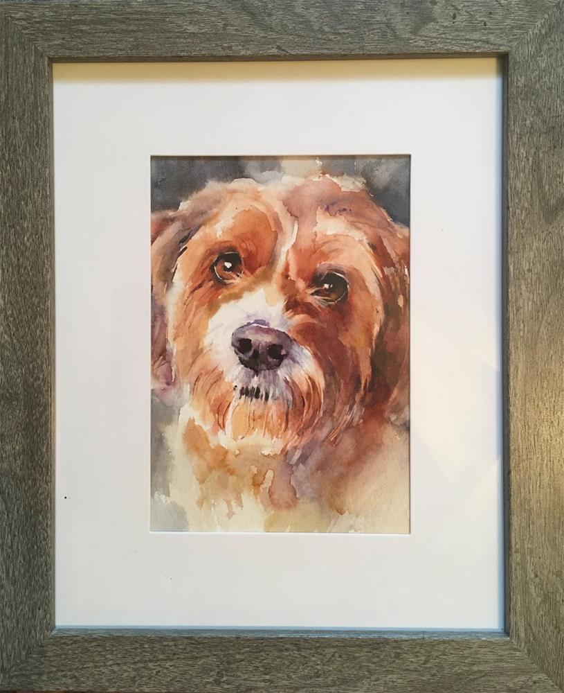 """adopt183 - Gracie"" original fine art by Katya Minkina"