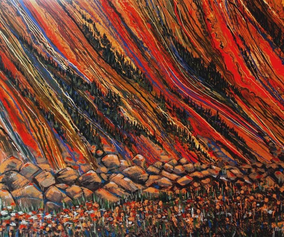 """Landslide"" original fine art by Khrystyna Kozyuk"