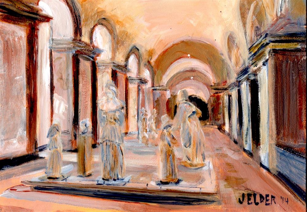 """Statues, Paris No. 60"" original fine art by Judith Elder"