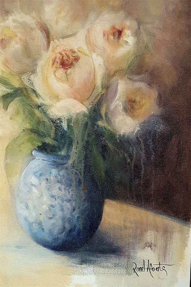 """Romance in a vase"" original fine art by Ronel Alberts"