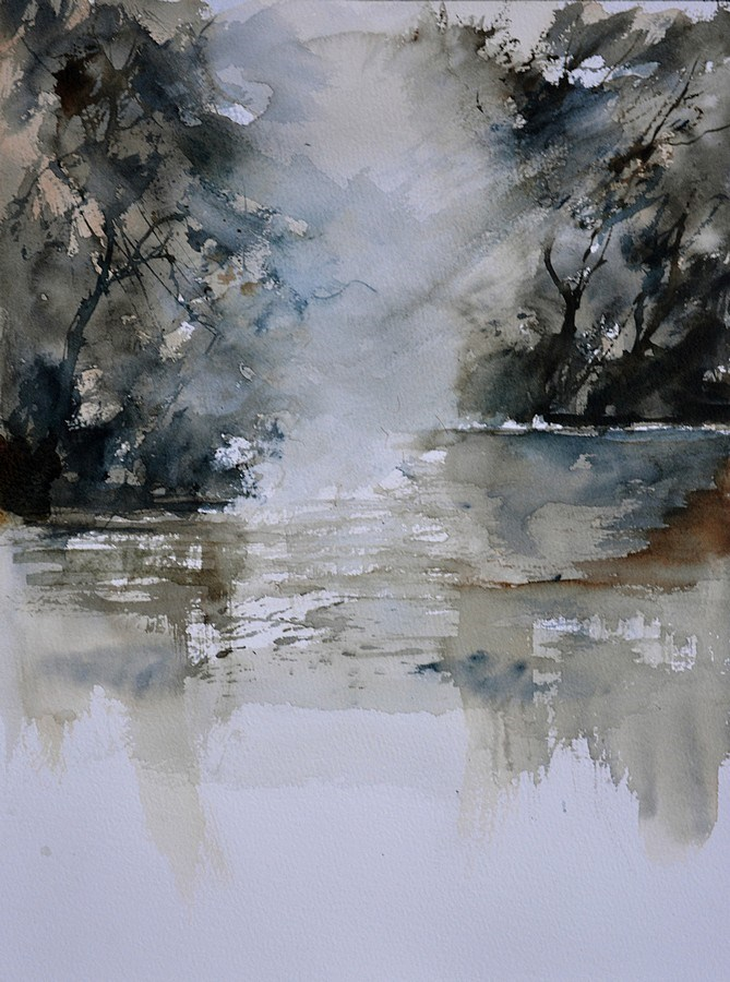 """watercolor 511071"" original fine art by Pol Ledent"