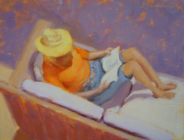 """Summer Read"" original fine art by Bruce Bingham"