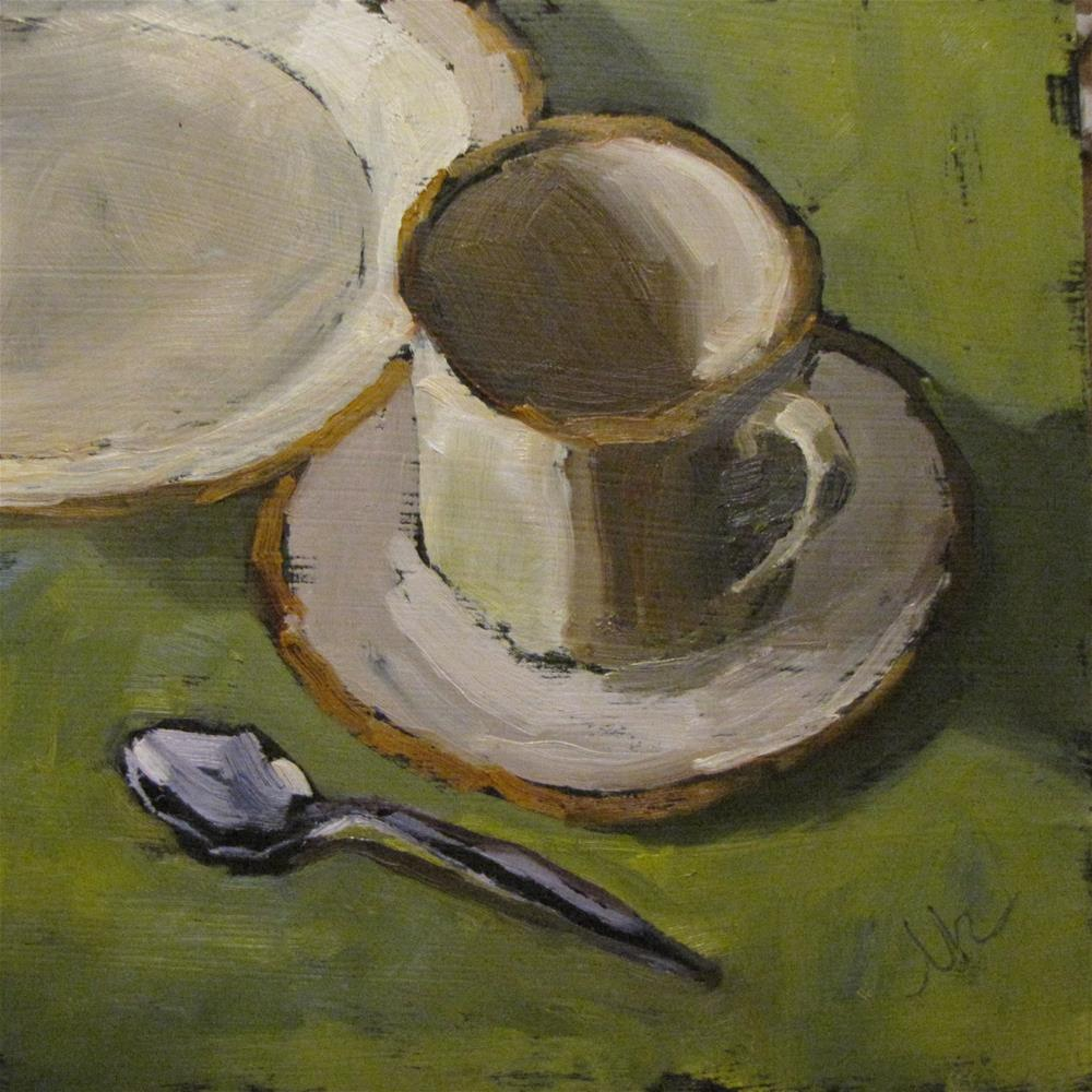 """Cup and Saucer"" original fine art by Louise Kubista"