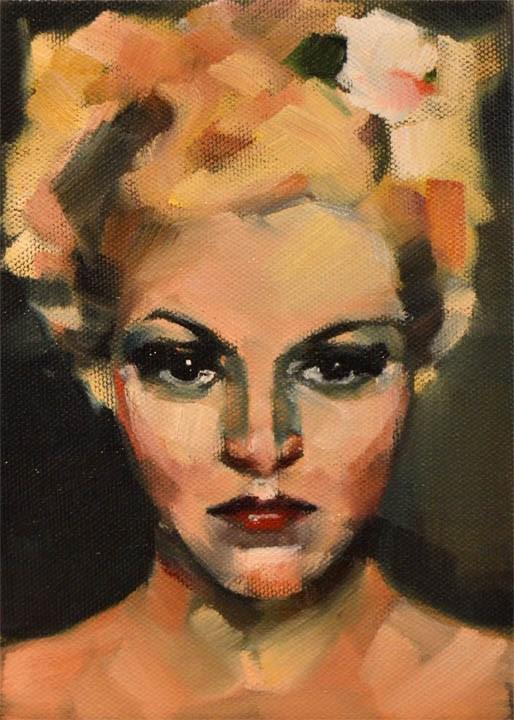 """Claire"" original fine art by Cheryl Wilson"