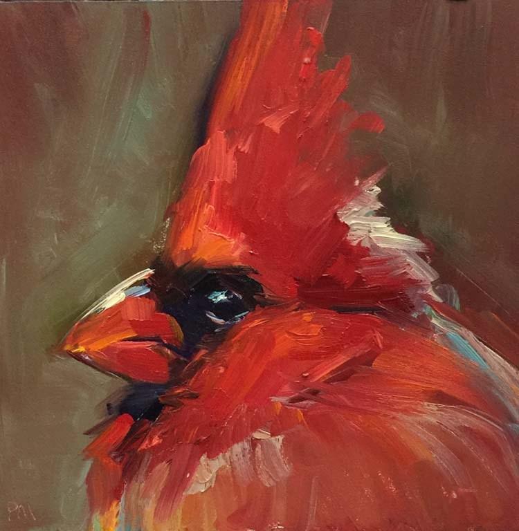 """Saturday Night Feathers"" original fine art by Patti McNutt"