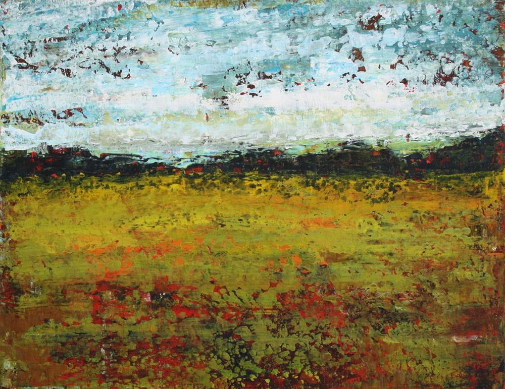 """""""The Quiet Field"""" original fine art by Sage Mountain"""
