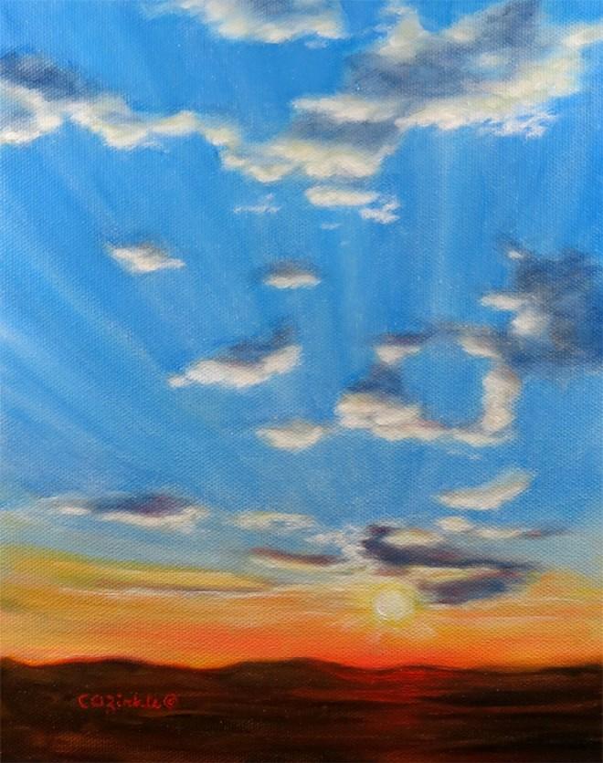 """Hello Sunshine"" original fine art by Carol Zirkle"