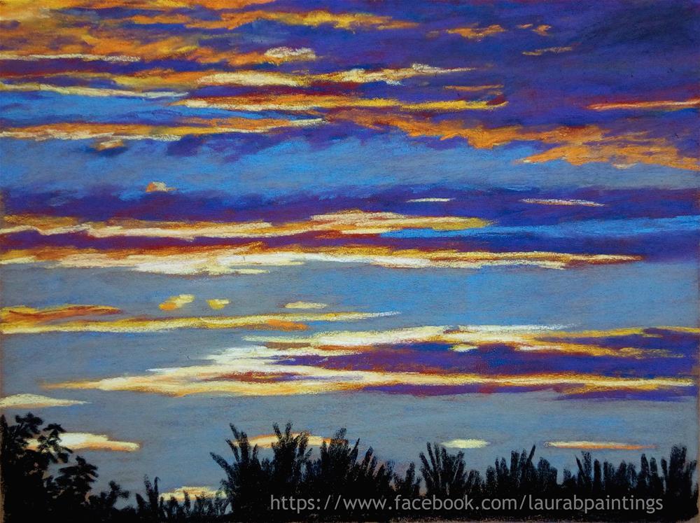 """Last Lights"" original fine art by Laura B."