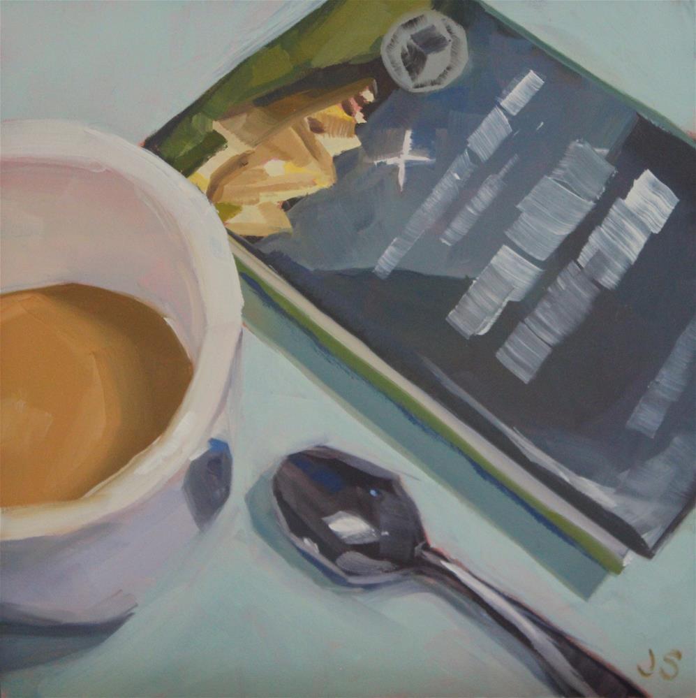 """August Book Club"" original fine art by Jamie Stevens"